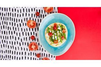 Tortilla met gegrilde groenten