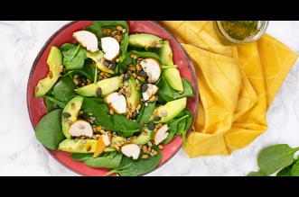 Salade van babyspinazie